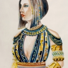 Costume design by Martin Jezerski for Cleopatra in Anthony and Cleopatra